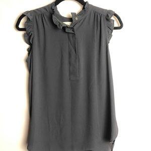 LOFT ruffled sleeve blouse